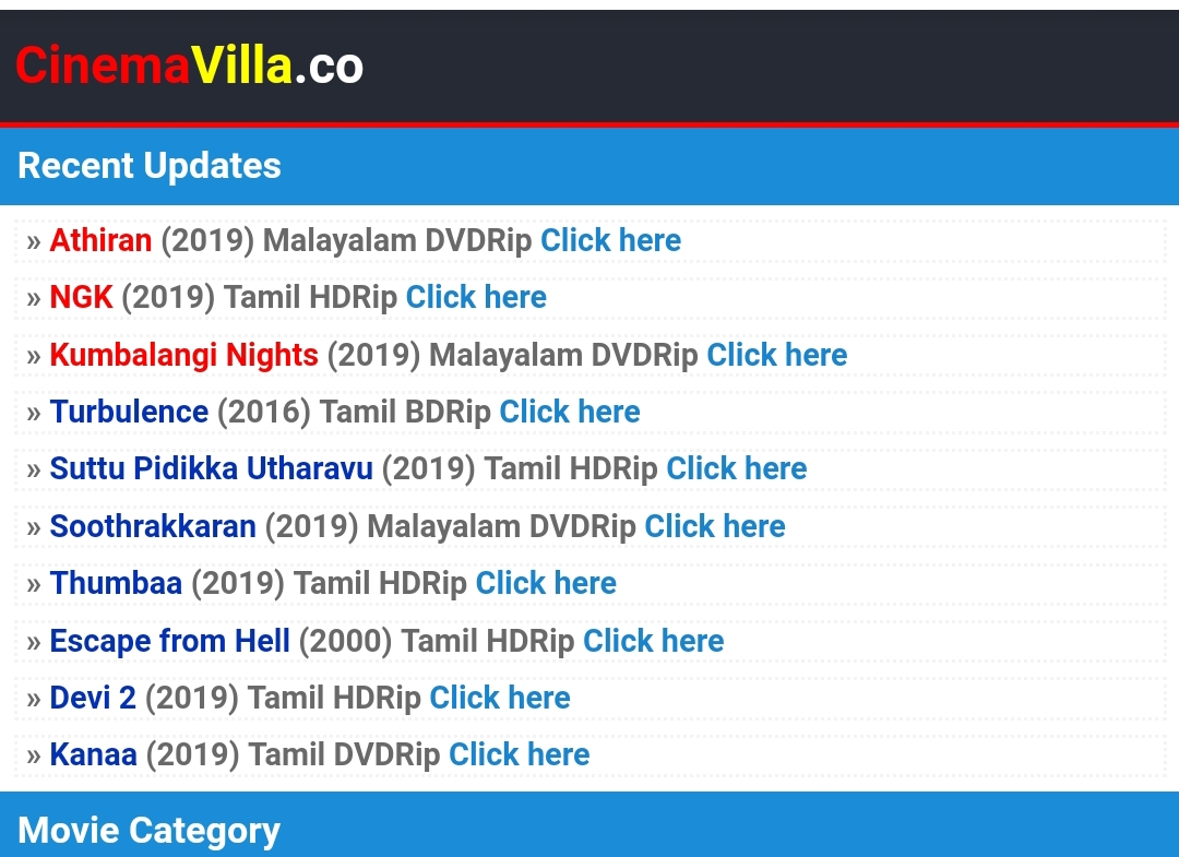 cinemavilla website
